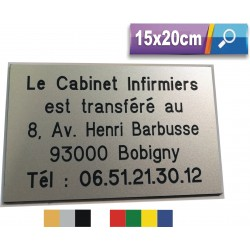 15x20cm - Plaque de Porte