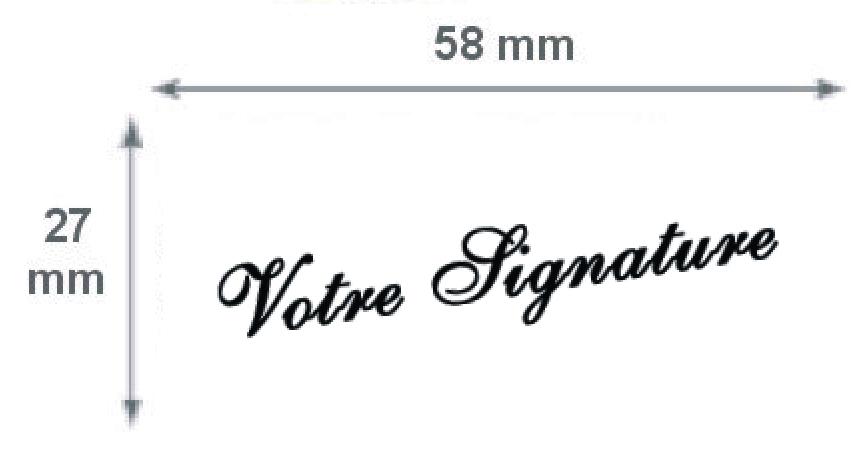 Tampon métallique signature