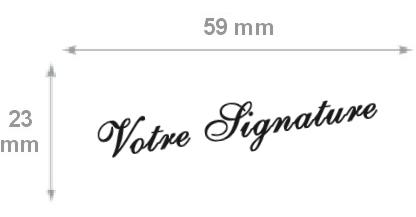 Dimensions tampon signature